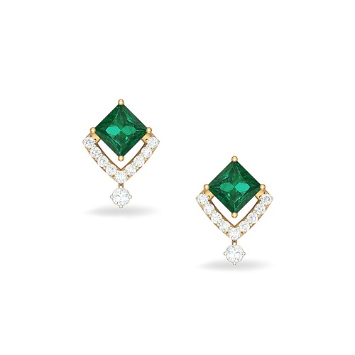 4ad544f01aceb Emerald Diamond Earrings