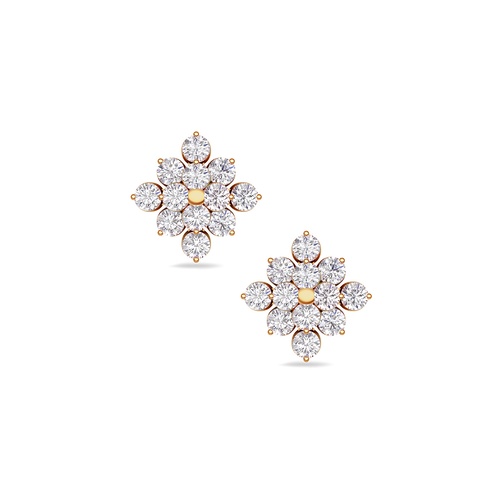 4b93af78e Classic Diamond Studs | Buy 18Kt Yellow gold Diamond EARRINGS Online for  Studs in India | Kirtilals