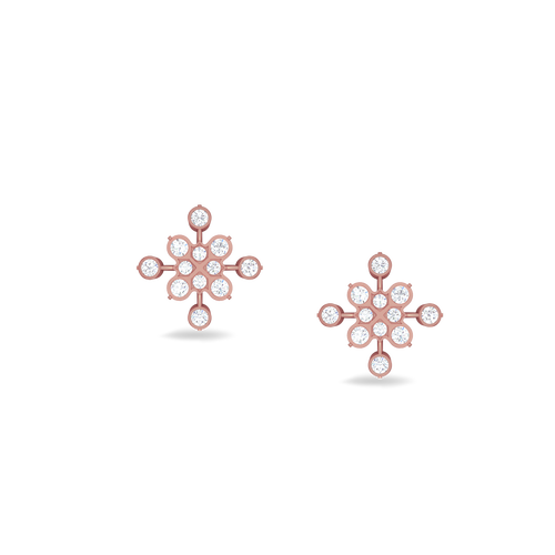 20e030045 Irresistible traditional diamond studs   Buy 18Kt Rose gold Diamond EARRINGS  Online for Studs in India   Kirtilals