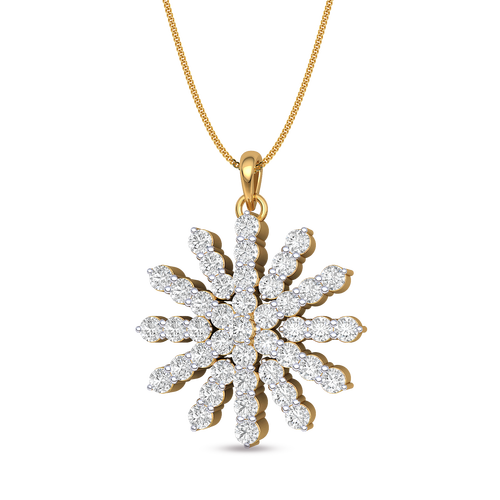 Shining star diamond pendant buy 18kt yellow gold diamond pendant shining star diamond pendant buy 18kt yellow gold diamond pendant online for single hook in india kirtilals aloadofball Image collections